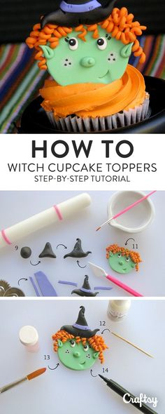 Make this Halloween wickedly fun with cute witch cupcakes! Learn to make detailed witch fondant toppers for sweet festive treats.