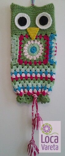 Ideas For Crochet Bag Holder Owl Crochet Owls, Crochet Cross, Love Crochet, Crochet Granny, Crochet Baby, Knit Crochet, Crochet Patterns, Crochet Kitchen, Crochet Home