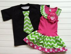 Brother Sister Outfits Boys Tops Girls Clothing Chevron Dress Chevron Kids Bro Sis Baby Toddlers 6 12 18 24 Months Girls Boys 2 4 5 6 8 10