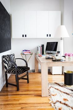 office glamourous. black white zebra
