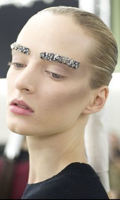 glittered brows. chanel aw12.