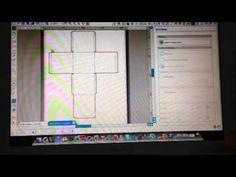 Rastreamento de molde de caixa disponível na internet - Silhouette