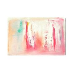 """Oliver Gal Unframed Wall \""""Dreaming\"""" Canvas Art ($278) ❤ liked on Polyvore featuring home, home decor, wall art, home wall decor, colorful canvas wall art, colorful home decor and canvas home decor"""