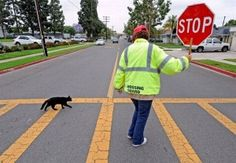 My kind of crossing guard
