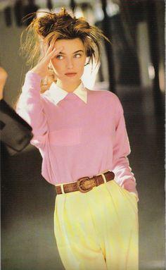 Paulina Porizkova for Vogue Paris April 1987