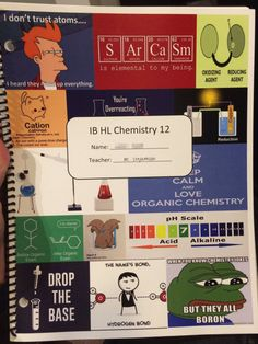 The chemist who made this the cover for their students' workbooks. | 19 Teachers…
