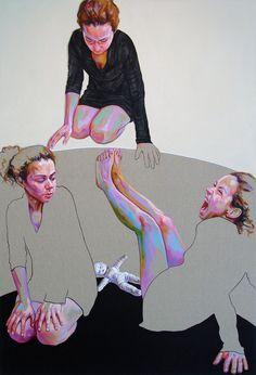 "Saatchi Online Artist: Cristina Troufa; Acrylic, 2012, Painting ""Etapas"""