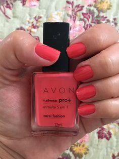 Coral Fashion - Avon Nailwear pro + - Esmalte 5 em 1.