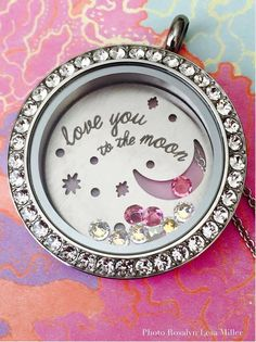 Origami owl Love you to the moon