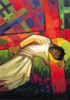 7. Jesus falls the second time by The Benedictine Sisters of Turvey Abbey #Lent