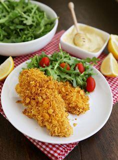 Crispy Honey-Dijon Baked Chicken Tenders