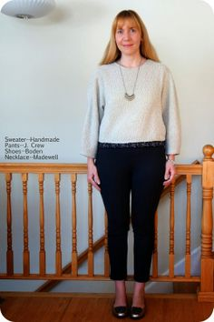 970c6372b61 My Superfluities Handmade Sweater (Burda August 2013 issue) and Madewell  Arrowstack Necklace August 2013