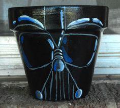 Darth Vader 6 inch flower pot acrylic