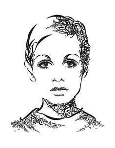 Type portrait of Twiggy taken from https://idea260.wordpress.com/typographic-portrait-project/