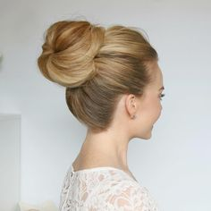 """High bun's are always a good idea  working on a separate tutorial for this hairstyle from my video about clipping in extensions! If you missed that one + would love to see it then visit my YouTube channel """"Missy Sue""""  #missysueblog"""
