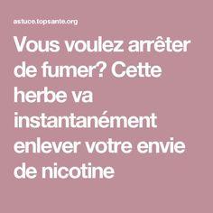 Vous voulez arrêter de fumer? Cette herbe va instantanément enlever votre envie de nicotine