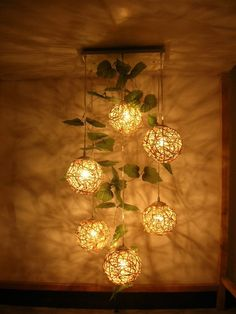 woven rattan drop light rural style pedant lamp handmade weaving Chandelier - ALL ABOUT Creative Wall Decor, Creative Walls, Rattan Pendant Light, Pendant Lights, Drop Lights, Ball Lights, String Lights, Diy Home Decor, Room Decor