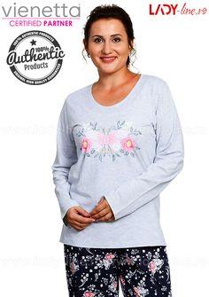 Pijamale Dama Marimi Mari, Vienetta, 'Just Breath' Breathe, Graphic Sweatshirt, Lady, Sweatshirts, Sweaters, Fashion, Moda, Fashion Styles, Trainers