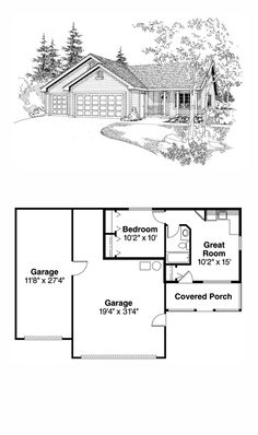 Log House Plan 74106 | Pinterest | Micro House Plans, Micro House And  Bedrooms