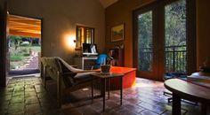 Nauhaus_Living Room; Front yard beyond