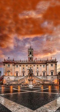 Sai che a Roma... il rosa dona? Piazza del Campidoglio