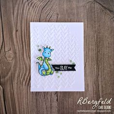 RBergfeld Card Designs: Tic-Tac-Toe Challenge #18 - MFT Stamps, Magical Dragons