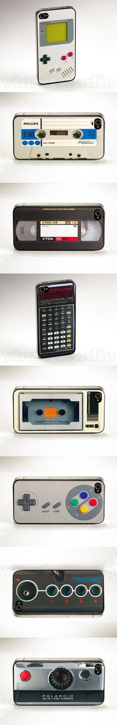 Cool iPhone 4 / 4S cases: Turn your iPhone into a retro device!