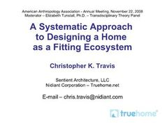 how-to-design-a-home-as-a-fitting-ecosystem-presentation by Christopher K. Travis via Slideshare Classic Architecture, Presentation, Change, Videos, Awesome, Home, Projects, Design, Log Projects