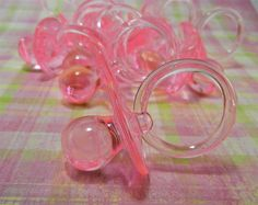 24 Large Pink Baby Shower Pacifier Binkies by JuliasLovelyCrafts, $12.00