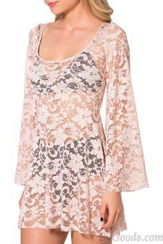 Hülsen Blumen Stickten Sexy Bluse only $22 in ByGoods.com!