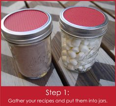 Recipes in a Jar with FREE Printables