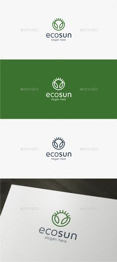 Eco Sun - Logo Design Template Vector #logotype Download it here: http://graphicriver.net/item/eco-sun-logo-template/13738411?s_rank=309?ref=nexion
