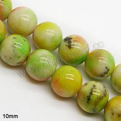Gemstone Beads, Malaysia Jade, Blend colors, Smooth round, Approx 10mm, Hole:Approx 1mm, Sold per 16-inch strands