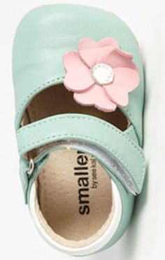 adorable #mint green and pink flower baby jane's http://rstyle.me/n/hrin6r9te