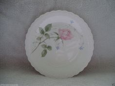 Mikasa April Rose Pattern Dishes Salad Plate 1980's Bone China NICE 8 Inches #Mikasa Kitchen Ware, Salad Plates, Dining Room Table, Vintage Kitchen, Dinnerware, Serving Bowls, Decorative Plates, China, Make It Yourself