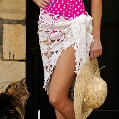 crochet sarong - worth purchasing this pattern...isn't this classy looking!