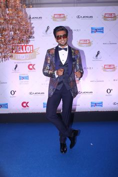 Ranveer Singh poses at the Hello Hall of Fame Awards 2018 was a dazzling evening.