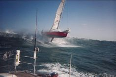 Yike's. That's moving #vela #sailing
