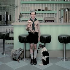 The Ice Cream Parlor, by Erwin Olaf. Homage to Norman Rockwell it seems.