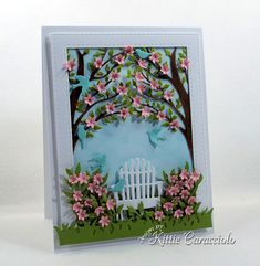 Card Making Ideas | Paper Crafts | Handmade Greeting Cards | Scene Cards | Flower Cards.  Click on the picture if you would like to see how I made this card.