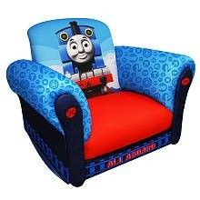 Hit Entertainment Thomas The Tank Engine Deluxe Rocker  $55.99 Thomas the Tank Engine Rocking Chair, your child's very own chair. Fun place to sit, visit with friends or watch your favorite show. This rocking chair has extra touches such as front arm panels and hard resin rockers. The hard resin rockers are very strong to handle the rigors of today's kids