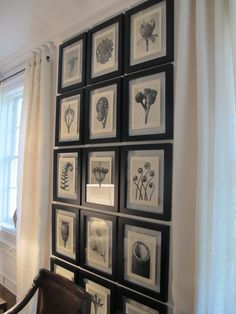 Framed black and white photos from Europe would look good this way on a wall.
