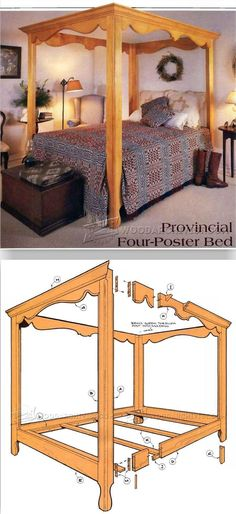 Four Poster Bed Plans - Furniture Plans and Projects - Woodwork, Woodworking, Woodworking Plans, Woodworking Projects