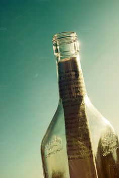 message in a bottle by André Lui Bernardo on @creativemarket