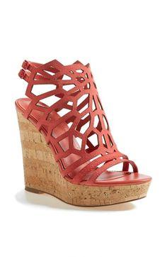 #Coral wedge sandal http://rstyle.me/n/f4kyynyg6