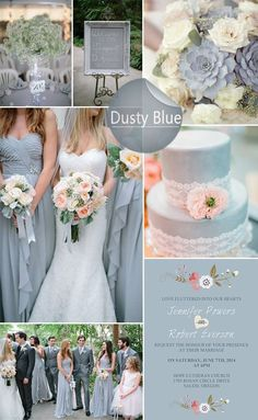 Blues & Peaches ... Vintage/Rustic theme