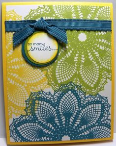 Doily card a must do card thank for sharing (dup pin)