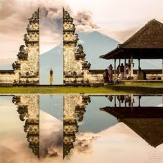 the volcanic Mt. Agung, Bali 📷-@BrianCrawfordPhotography    #SacredGeometry #Bali #temple #sacredarchitecture #architecture #world #zenlifeterritory