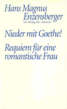 "Already contemporaries were deeply puzzled by Goethe and his work. They railed immensely - and some of them extremely well ! Lenz, J.D. Falk, Böttiger behave like investigative journalists, from Wieland, Kotzebue, the Herders, Odyniec and others there are shocking statements full of disgust, even the more  indulgent ones like Knebel, Ch. von Stein, de Stael or Schiller make highly disconcerting remarks.  Enzensberger has worked these different critical attitudes into the play ""Down with…"