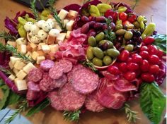 Italian meat and cheese platter. Made this for Superbowl Sunday 2013!